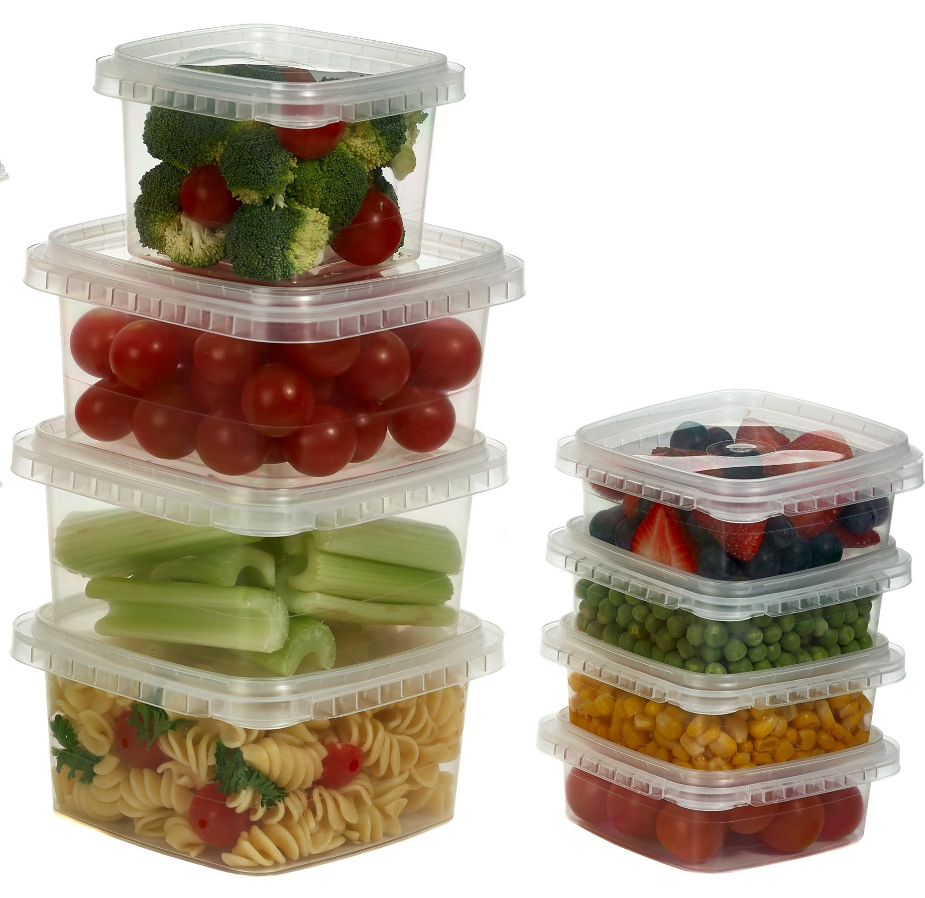 Clear Deli Food Storage Containers With Lids Tamper